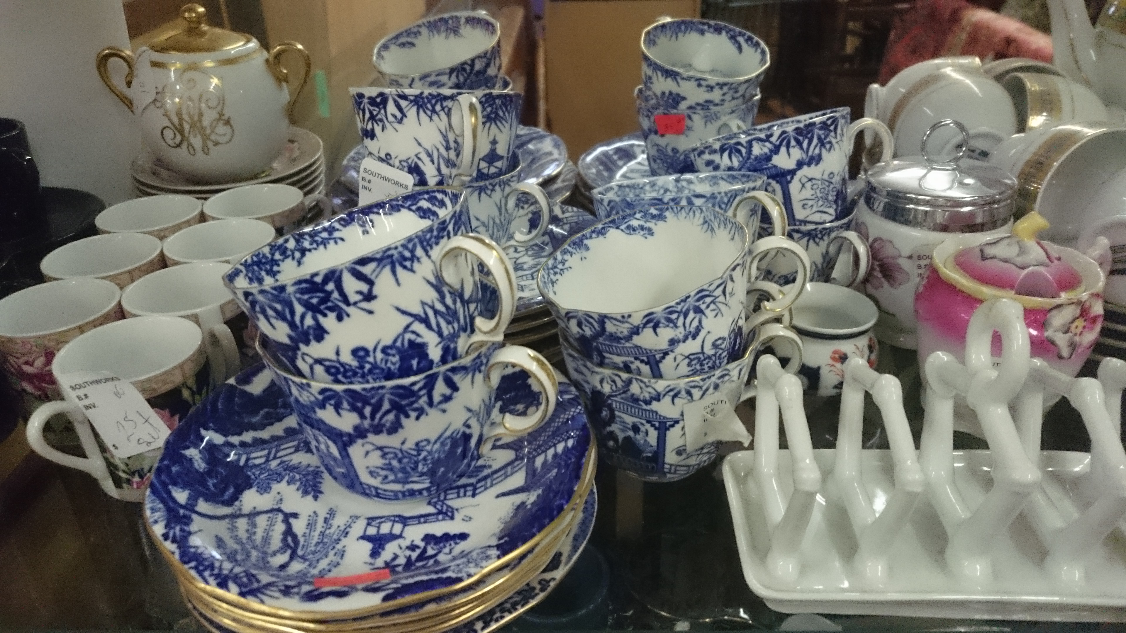 Blue and White China Tea Set